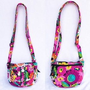 Vera Bradley Va Va Bloom Crossover Lizzy Bag EUC